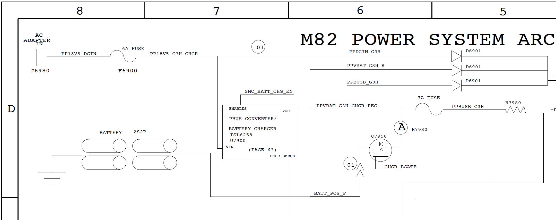 Первый этап схемы питания MacBook Air A1237 (820-2179)