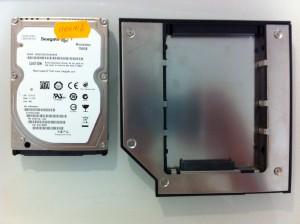 Корзина под HDD в MacBook вместо DVD