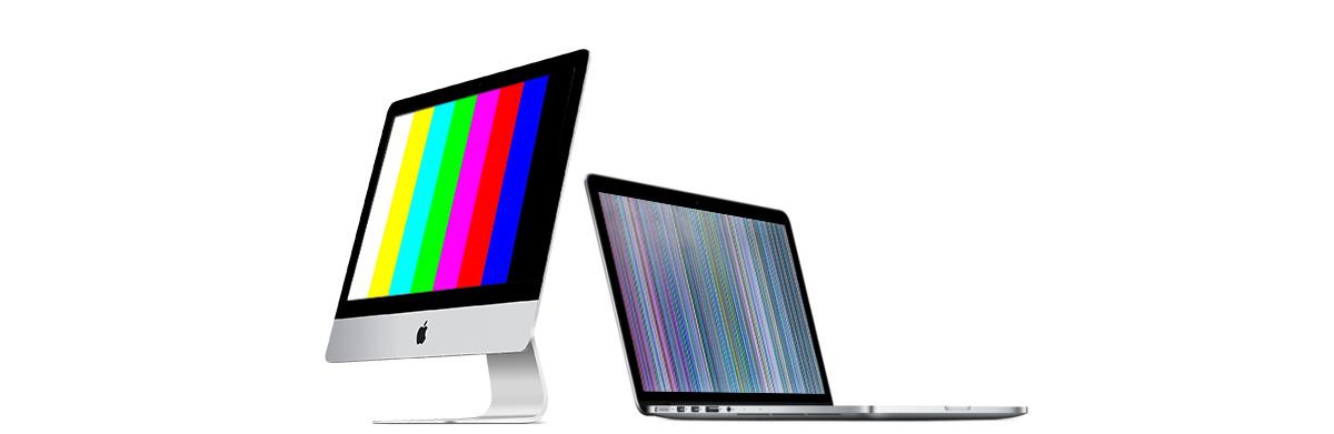 полосы на экране imac и macbook