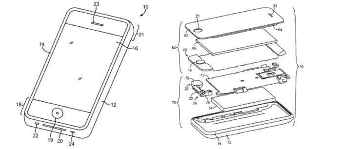 патент apple на жидкий металл в кнопке Home