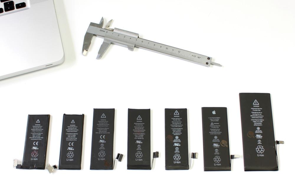 Аккумуляторы iPhone 4, 4s, 5, 5c, 5s, 6 и 6 plus