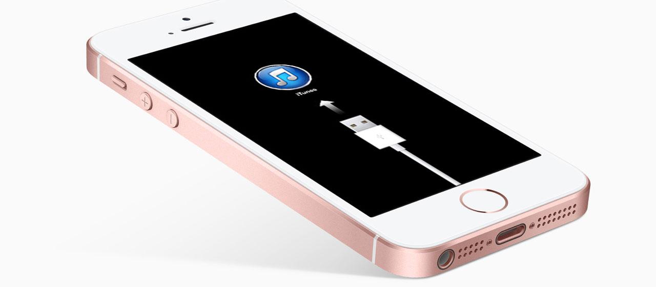 iPhone SE не загружается